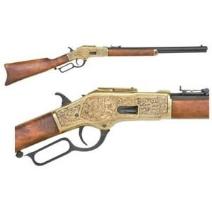 Denix Winchester M1873 Engraved Lever Action Replica Rifle - Gold Finish