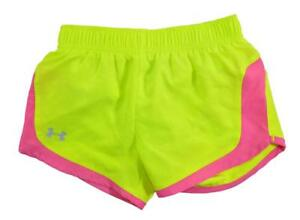 Under Armour Toddler Girls Neon Yellow & Pink Short Size 2T $19.99