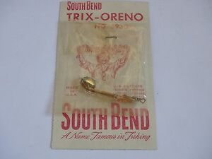 Vintage South Bend Trix Oreno Fly Rod Lure 593 G 1 18 NIP! Super Duper Style