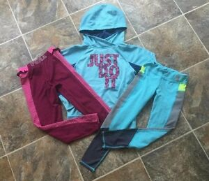 10 pc Under Armour Nike Puma Zella HOODIE Girls OUTFITS Lot size SMALL