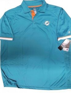 MIAMI DOLPHINS TEAM NFL DRI FIT MENS  COOL BASE POLO SHIRT NEW 2X 3X 4X 5X 6X
