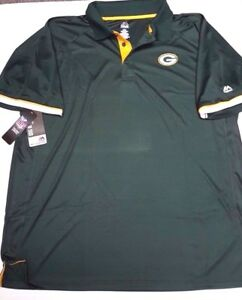 GREEN BAY PACKERS TEAM NFL DRI FIT MENS  COOL BASE POLO SHIRT NEW 2X-6X