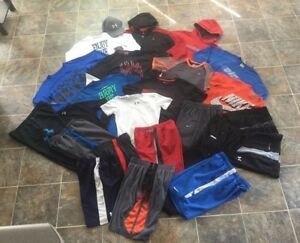 24pc. Under Armour Nike Hoodie Shirts Shorts Pants OUTFITS Lot Boys Youth LXL