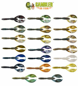 GAMBLER LURES 4.25 IN FLAPPY DADDY BASS FISHING BAIT 8 CT VARIOUS COLORS U PICK