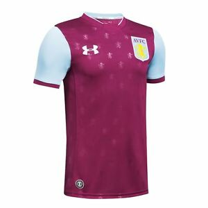 Under Armour Kids Aston Villa Home Shirt 2017 2018 Junior Domestic Short Sleeve