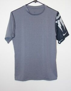 Mens Nike Fit Dry Compression Shirt Gray X-Large