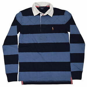 Polo Ralph Lauren Sport Womens Quilted Rugby Shirt Sweatshirt Blue Navy Large