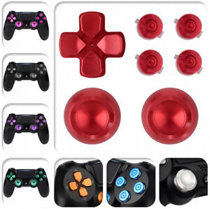 Custom Replacement Metal ThumbStick Bullet Button Dpad for PS4 Remote Controller