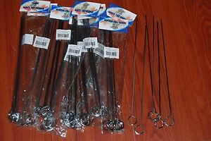 LOT 72 BBQ Barbecue Stainless Steel Grilling Kabob Kebab Flat Skewers Needle 12