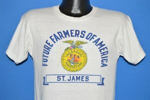 vintage 50s FUTURE FARMERS OF AMERICA ST JAMES CHAMPION RUNNING MAN t-shirt S