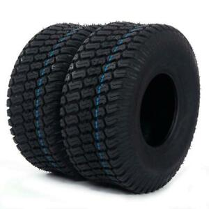 570 lbs tires Tubeless 15x6.00 6 Turf Tires Lawn Mower Tractor 4 Ply 2PCS $44.66