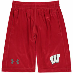 Wisconsin Badgers Under Armour Youth Training Speed Tech Shorts - Red - NCAA