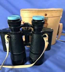 Vintage Prestige Binoculars 7x50 No. 92684 with case Famous Precision