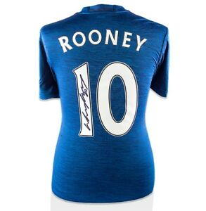 Wayne Rooney Signed Manchester United Away Shirt 201617 - Fan Style Numbers