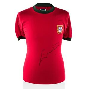 Eusebio Front Signed Portugal Shirt - Home 1966  Autograph Jersey