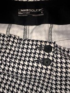 NIKE GOLF FIT DRY Houndstooth Long Shorts 13 inch inseam sz 6