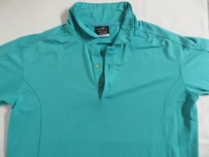 NIKE Golf FIT DRY Polo Shirt Green Teal SWOOSH 14-16 Boys Large Youth Fitdry