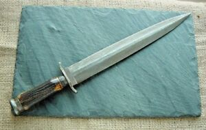ARKANSAS TOOTHPICK BOWIE KNIFE Hand Forged 18