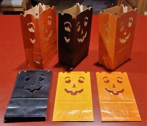HALLOWEEN LUMINARIAS FIRE RETARDANT PATH GUIDES LANTERNS PUMPKIN FACE GLOWS