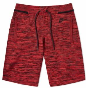 New Nike Tech Knit Mens Shorts size Medium REDBLACK