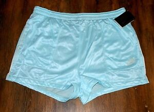 New Vintage Womens Nike Shorts Running Athletic Size L Aqua Ice Rare 1980's