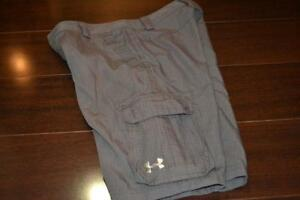 6684-g Kids Boys Under Armour Golf Cargo Shorts Athletic Size Youth Large Gray