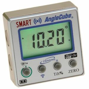 Digital Angle Cube Guage Bluetooth Level Protractor Magnetic Lighted LCD iGaging $39.95