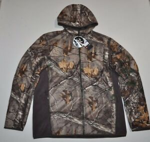 UNDER ARMOUR MEN'S XL UA STORM1 STEALTH FULL ZIP HOODIE CAMO HUNT NWT
