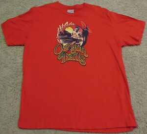 Nike Running Oregon Trails Limited Edition Soft Cotton T Shirt Red mens XL L NEW