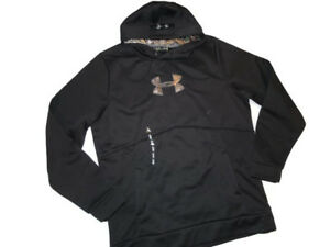 Under Armour Men's Storm Icon Caliber Tall Hoodie Camo Black realtree  XLT