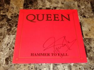 Queen Rare Roger Taylor Signed Autographed Hammer To Fall 12