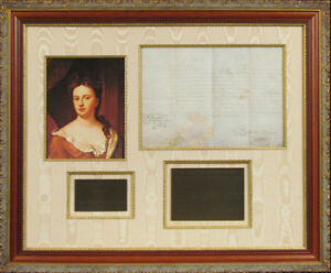 QUEEN ANNE (ENGLAND) - MILITARY APPOINTMENT SIGNED AUGUST 1702 WITH CO-SIGNERS