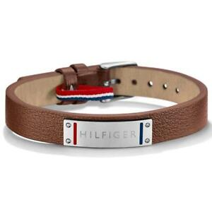 Tommy Hilfiger Casual Core Brown Leather Mens Bracelet 2700680