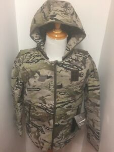 Under Armour 2 in 1 PrimaLoft Ridge Reaper Barren Camo Jacket Vest 1250612 Large
