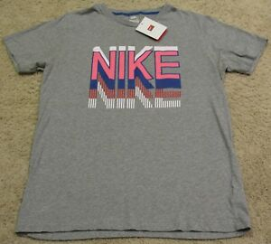 Nike Running Limited Issue 1984 LA Olympics T Shirt Gray Pink men L M XL NEW NWT