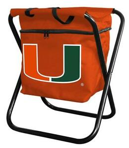 Miami Hurricanes NCAA College Football Tailgate Party Gift Quad Cooler Chair