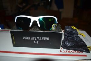 NEW UNDER ARMOUR IGNITER 2.0 SUNGLASSES SHINY WHITE  GREEN