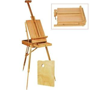 French Easel Sketch Box Portable Tripod Display Artamp;Craft Artist Studio Painting $61.39