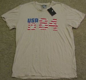 Nike Running Limited Issue LA Olympics 1984 T Shirt Athletic Slim Fit mens XL L