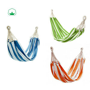 100% Cotton Fabric Hammock Air Chair Hanging Outdoor Indoor Swinging Camping