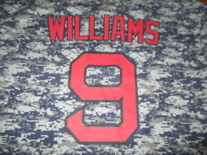 TED WILLIAMS No. 9 BOSTON RED SOX (XL) T-Shirt Jersey Camouflage