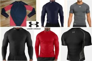 lot UNDER ARMOUR compression fit shirts thermal baselayers quick drying mens 2xl