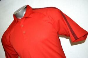 8486-d Men's Nike Golf Polo Shirt Size Medium Fit Dry Polyester Red