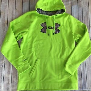 Under Armour Storm Caliber Mens Hunting Hoodie Sz XLT Velocity Realtree 1253663