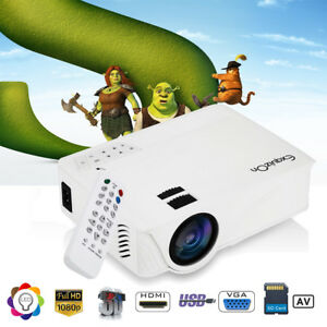 7000 Lumens FHD 1080P LED Projector 3D Home Theater For Smartphone Labtop PC US