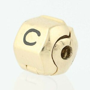 New Chamilia Snap Lock For Bracelet End Bead 14k Yellow Gold Charm