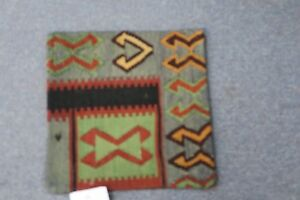 Turkish Anatolian Kilim Pillow Cushion Hand Woven Wool 14