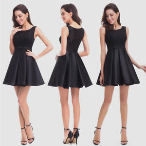 US Short Black Cocktail Dress Fit and Flare Party Dresses 05777 Ever-Pretty