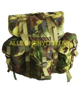 US Military Woodland Camo Alice Field Pack Radio Backpack Medium LC-1 w Straps