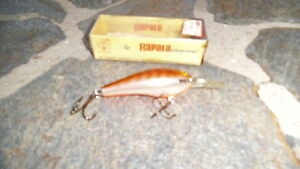 Vintage Rapala  Fat Rap FR-7CW Lure with Box-XLNT SHAPE-HARD to FIND!!!